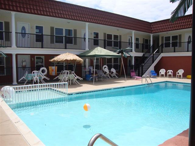 1605 Ocean Avenue #216 - Brigadoon Condos in North Wildwood - Two bedroom, two bath condo located at the Brigadoon Condominiums. Condo offers a full kitchen with range, fridge, dishwasher, microwave, toaster and coffeemaker. Sleeps 6; 1 queen, 1 double and queen sleep sofa. Amenities include central a/c, pool ,outside shower, coin op washer/dryer and one car off street parking. Steps to the beach and boardwalk!