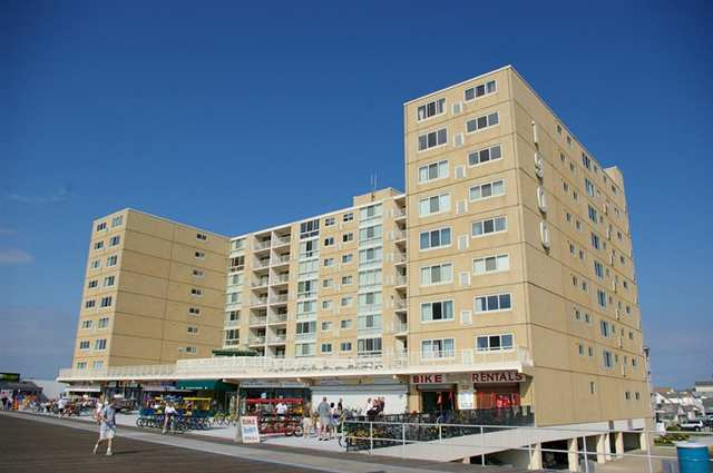 NORTH WILDWOOD RENTALS AT 1900 BOARDWALK - UNIT 401 - Beachfront complex with an unbelievable ocean view located on complete with pool and huge sundeck. 2 bedroom 2 bath unit fully outfitted and ready for your summer vacation.