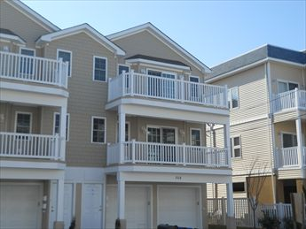306 East Pine Avenue - Wildwood Summer Rentals with a Pool. Three bedroom, two bath vacation home w/POOL! Located 1 block to the beach and boardwalk! Brand new everything! Stainless appliances in the kitchen. Fridge, range, dishwasher, microwave, coffeemaker and toaster. Sleeps 9; 2 queen, full/twin bunk and queen sleep sofa. Amenities include central a/c, washer/dryer, outside shower, and 3 car off street parking! Great location between both amusement piers!