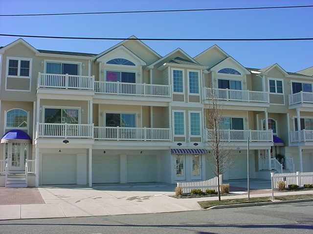 "432 East 24th Avenue ""C"" - Ocean Haven Condos in North Wildwood - 3 bedroom, 2 bath condominium is ideally located just steps to the beach and boardwalk. Condo amenities include central air conditioning, private washer and dryer, dishwasher, expanded cable, TV's in all bedrooms, wireless internet, deck with furniture, outside shower, 2 car shared garage parking and more! Owner has supplied a queen air mattress for your convenience. This is a non-smoking unit, no pets. Book early, VERY popular complex!"