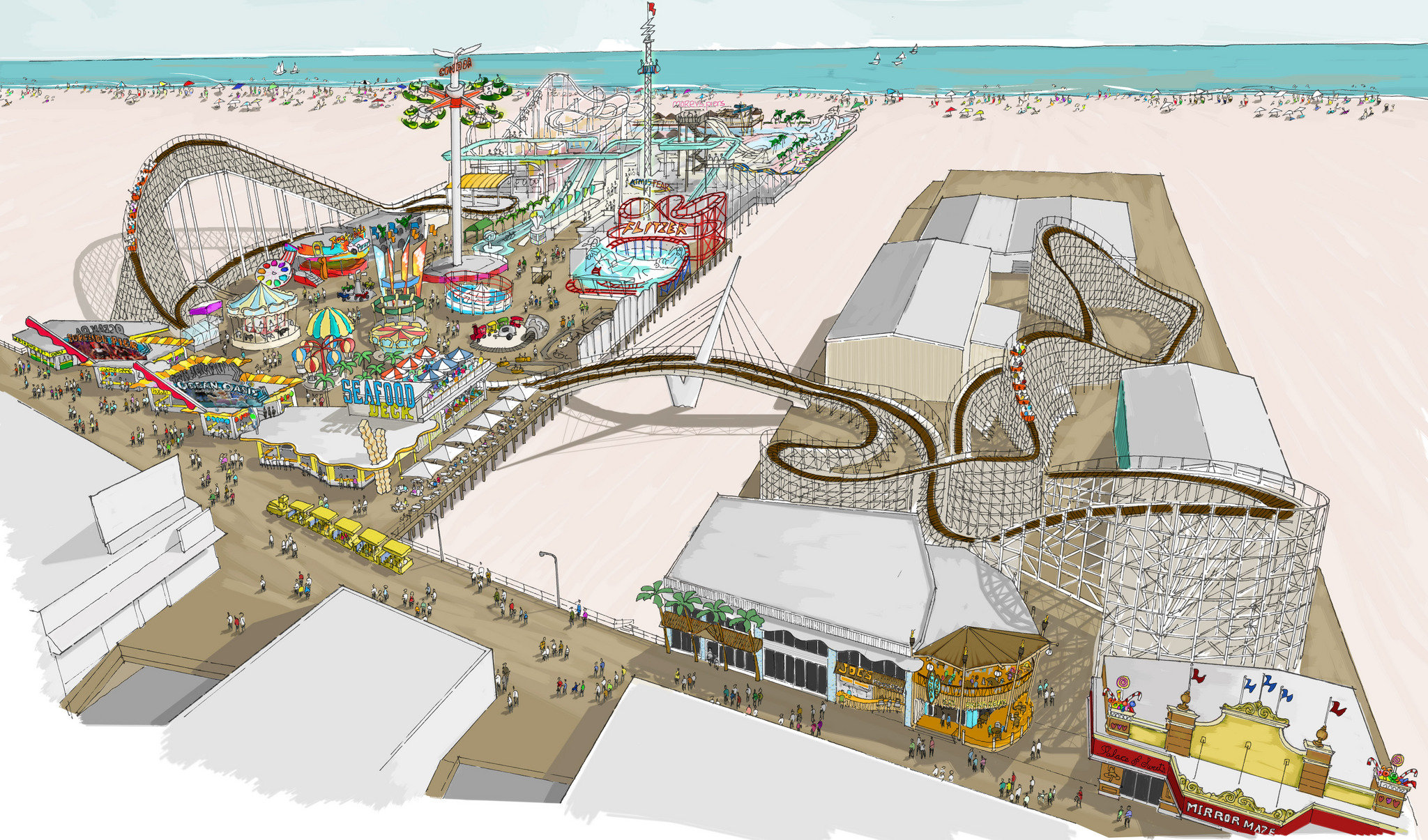 new moreys pier roller coaster on wildwood